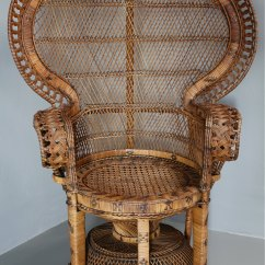 Antique High Back Wicker Chairs Dining Chair Covers Etsy Antiques Atlas - 1960's Rattan Peacock