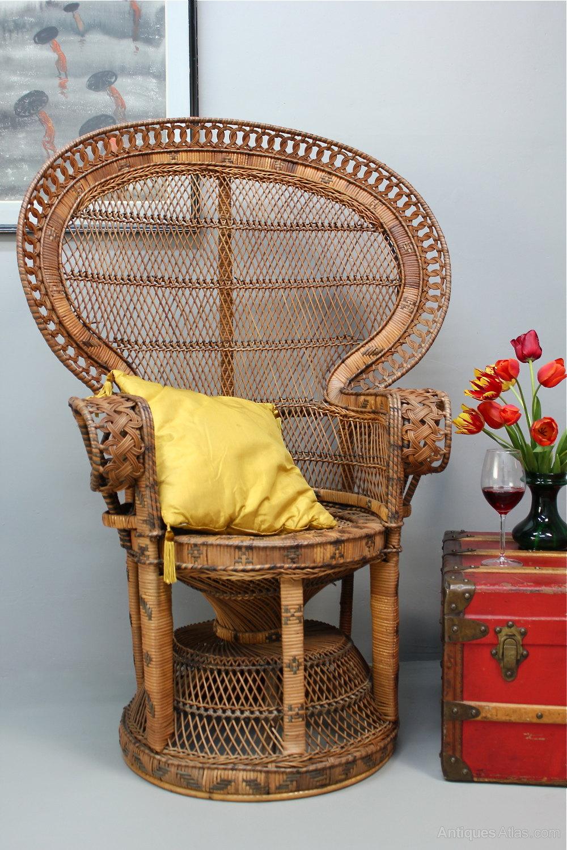 rattan peacock chair doll high antiques atlas - 1960's
