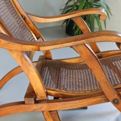 Quality Folding Chairs Glass Top Table And Antique Steamer Deck Chair. T658 - Antiques Atlas