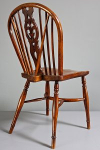 Pair Of Antique Yew Wood Windsor Side Chairs. - Antiques Atlas