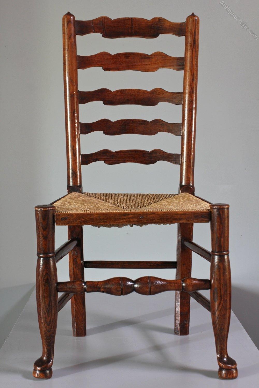 Set Of 8 Lancashire Ladder Back Chairs T223  Antiques Atlas