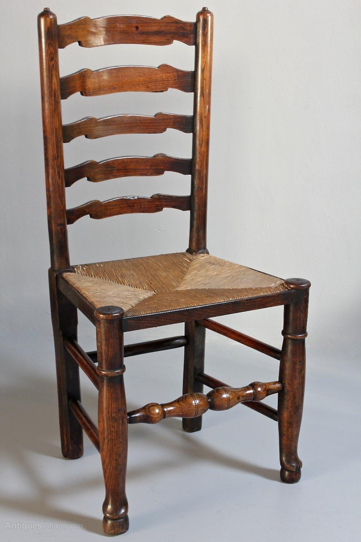 Set Of 6 Antique Ladder Back Chairs T216  Antiques Atlas