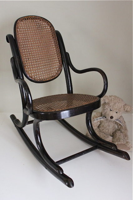 Thonet Ebonised Bentwood Childs Rocking Chair  Antiques