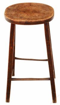 18th Century Mahogany High Stool Seat Chair - Antiques Atlas