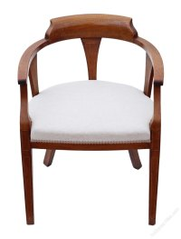 Edwardian Inlaid Mahogany Corner Arm Chair Bedroom ...