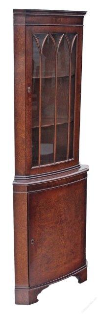 Antiques Atlas - Georgian Revival Walnut Corner Display ...