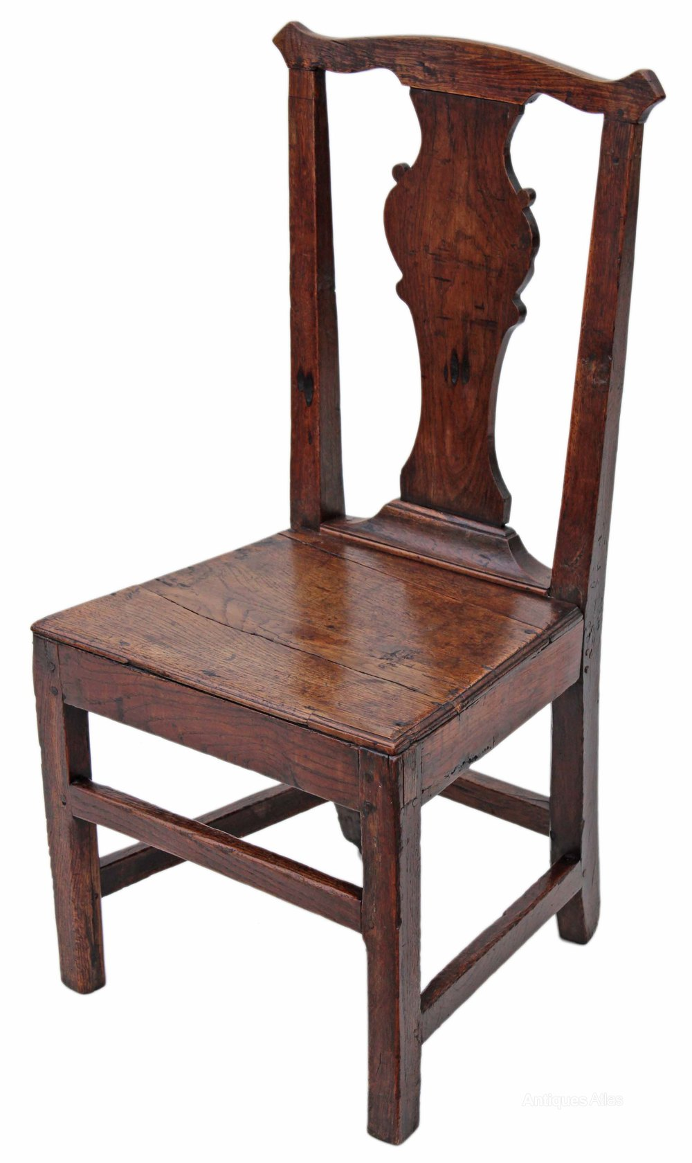 Set Of 4 Georgian Elm Country Dining Chairs  Antiques Atlas