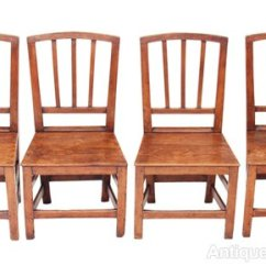 Oak Kitchen Chairs Bench Seating For Set Of 4 Georgian Elm Dining Antiques Atlas