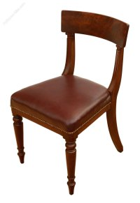 Set Of 4 Regency Mahogany Dining Chairs