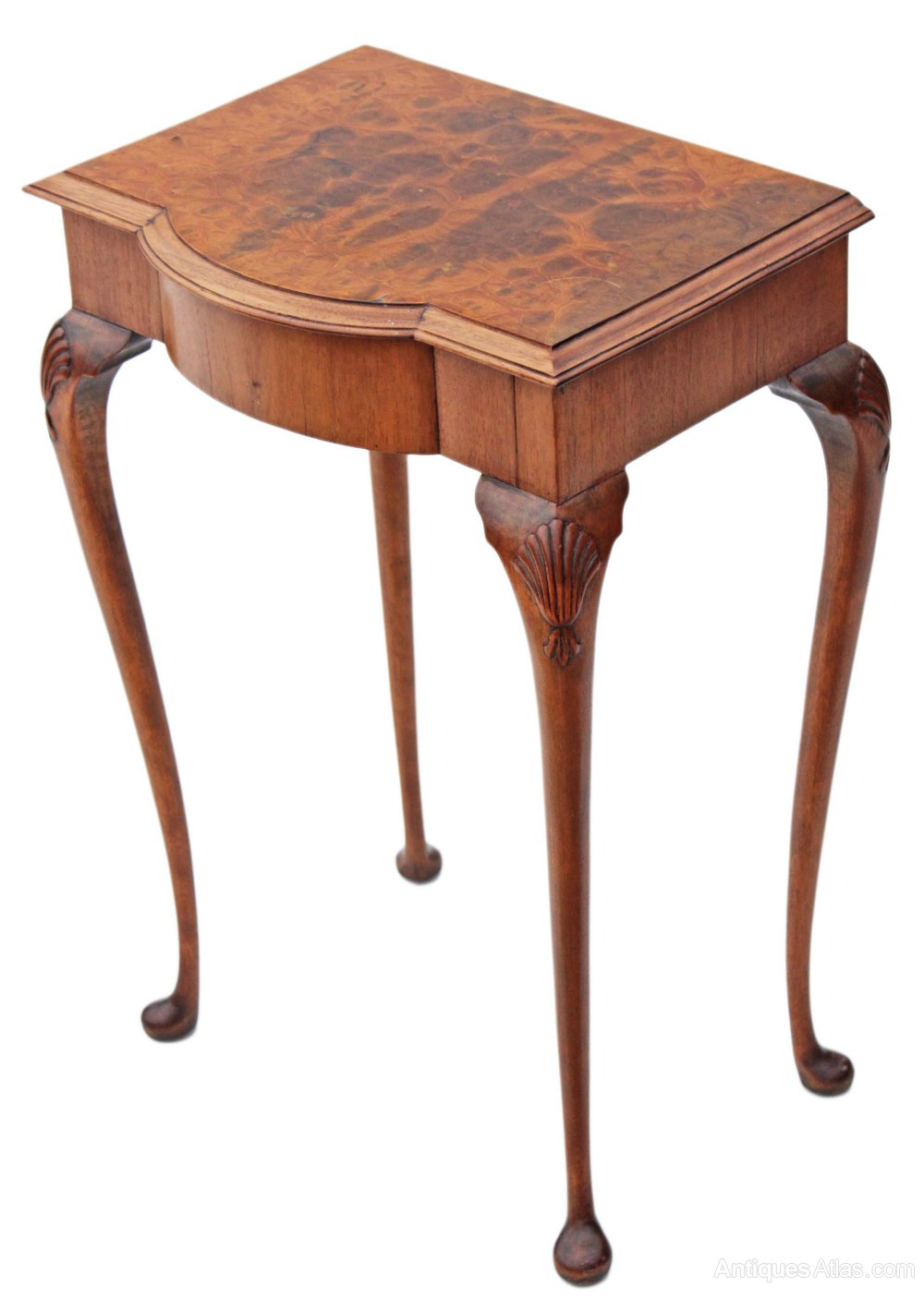 Small Burr Walnut Hall Side Occasional Table  Antiques Atlas