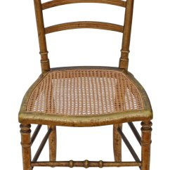 Cane Back Chairs Antique Cheap Table And For Sale Victorian Gilt Inlaid Bedroom Side Hall Chair - Antiques Atlas