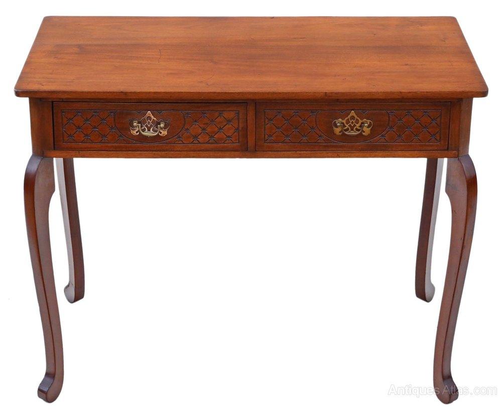 Victorian Mahogany Writing Desk Dressing Table  Antiques