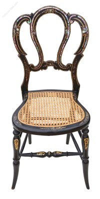Victorian Mother Of Pearl Cane Bedroom Chair - Antiques Atlas