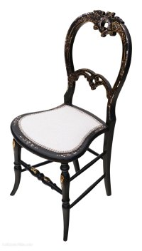 Victorian Mother Of Pearl Inlaid Bedroom Chair - Antiques ...