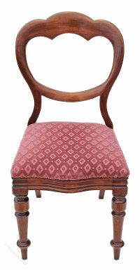 Victorian Walnut Dining Chair Balloon Back Bedroom ...