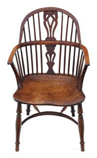Windsor Armchair Chair Hall Side Dining Carver - Antiques ...