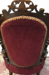 Mid Victorian Circa 1870 Lady's Upholstered Chair ...