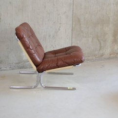 Leather And Chrome Chairs Mid Century Modern Desk Chair Antiques Atlas - Danish 1970s Lounge