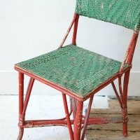 Painted Wicker Chair - Antiques Atlas
