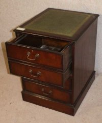 Antiques Atlas - Mahogany Filing Cabinet With Green ...