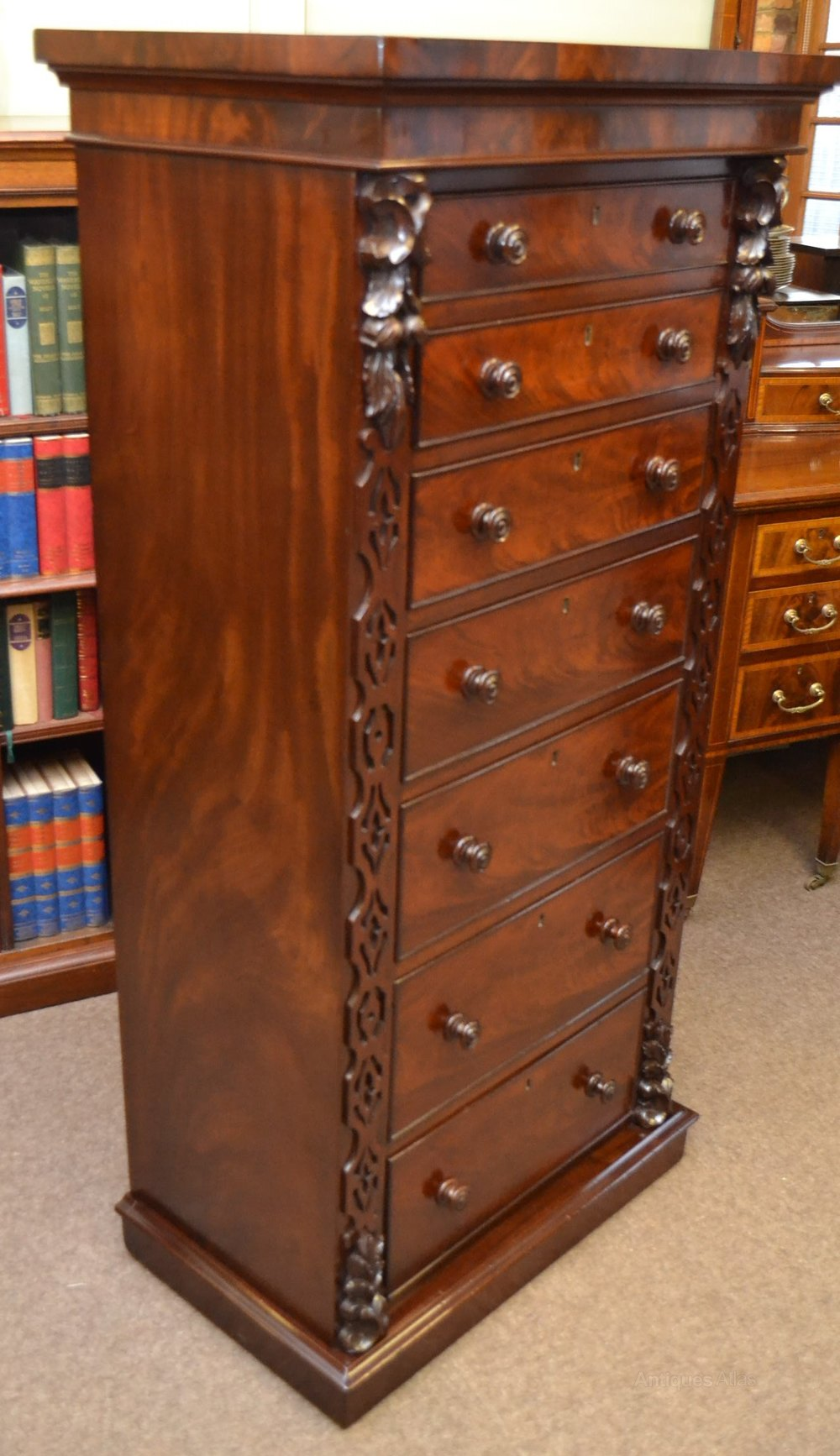 Tall Mahogany Chest Of Drawers C1870  Antiques Atlas