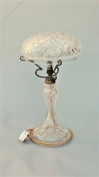 Antiques Atlas - Antique Cut Glass Crystal Table Lamp