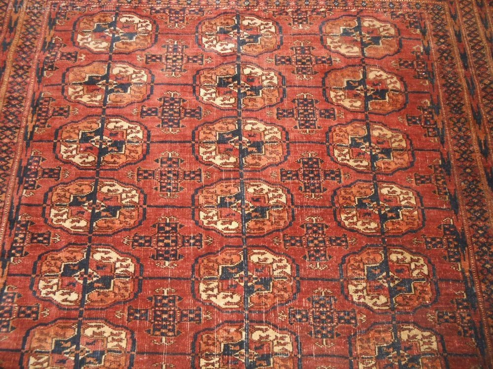 Antiques Atlas Late 19th C Tekke Turkoman Rug Carpet