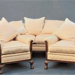 Pink Sofa Dating Uk Kirby Cleaner Mahogany Ball & Claw / Settee - Antiques Atlas