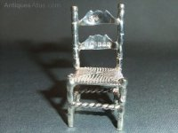Antiques Atlas - Late Victorian Miniature Silver Chair