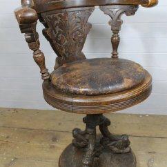 Revolving Chair Colour Big Rocking 19th C Oak Ship's Swivel - Antiques Atlas