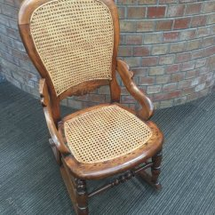 Rocking Chair Cane Zippered Covers Victorian Balloon Back Seat Antiques Atlas
