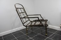 Antique Metal Campaign Chaise Chair