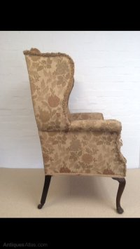 An Edwardian Wing Chair - Antiques Atlas