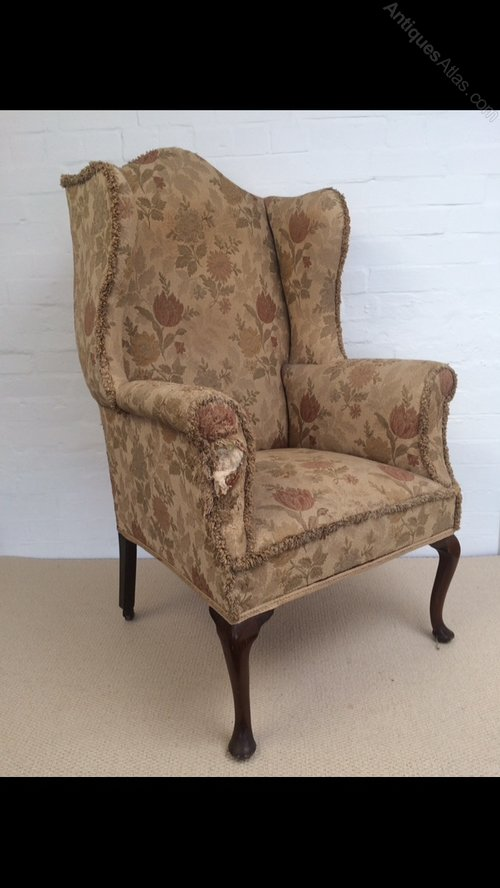 An Edwardian Wing Chair