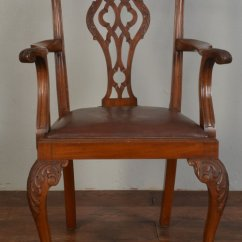 Chair Antique Styles Big Fold Up Chippendale Style Arm - Antiques Atlas