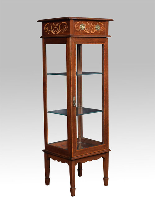 Edwardian Inlaid Small Display Cabinet  Antiques Atlas