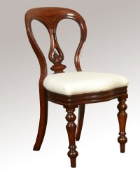 Set Of Ten Mahogany Victorian Dining Chairs