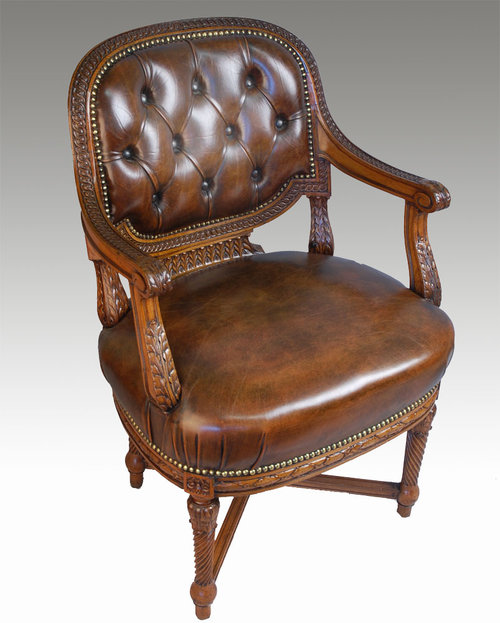 Mahogany Framed Office Chair  Antiques Atlas