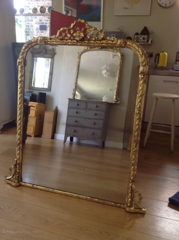 Antiques Atlas - Large Victorian Mirror