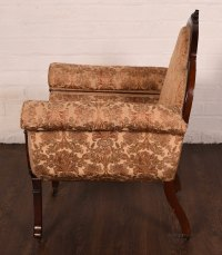 An Unusual Mahogany Embroidered Arm Chair - Antiques Atlas