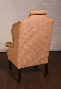 Edwardian Wing Arm Chair With Fabulous Shape - Antiques Atlas