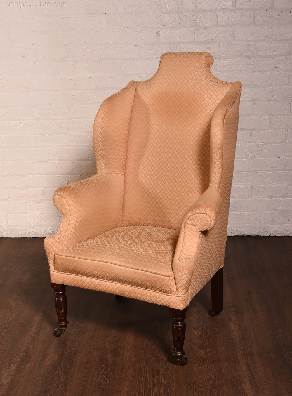 Edwardian Wing Arm Chair With Fabulous Shape
