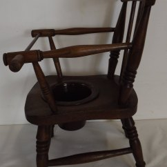 Childrens Potty Chairs Garden Chair Covers At Argos Victorian Child's Spindle-back Armchair Commode - Antiques Atlas