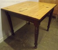 Victorian Solid Pine Kitchen Dining Table - Antiques Atlas