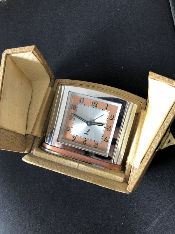 Antiques Atlas - Jaz Art Deco Travel Clock C1930s