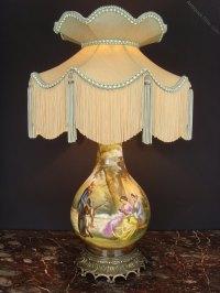 Antiques Atlas - 19th C. Hand Painted Porcelain Table Lamp ...