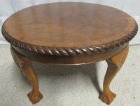 Walnut Round Coffee Table - Antiques Atlas