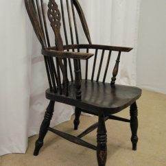 Windsor Back Chairs For Sale Wheel Chair Dimensions High Oak Armchair - Antiques Atlas