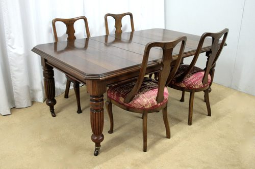 kitchen chairs on casters comfortable living room victorian dining table & - antiques atlas