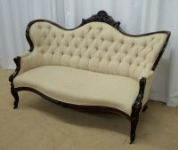 Victorian Mahogany Chaise Longue & Chair - Antiques Atlas